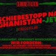 Am 14.12.2016 und am 23.1.2017 hat Deutschland mit den Sammelabschiebungen nach Afghanistan begonnen. Die Regierung plant weitere Menschen in das Kriegsgebiet abzuschieben. Das muss sofort ein Ende haben! Afghanistan ist […]