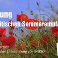 Das Ende der parlamentarischen Sommerpause des Landtages von Sachsen-Anhalt ist ein willkommener Anlass, mit vielen Gästen das Gespräch und den Austausch zu ihrer weiteren Arbeit zu suchen. Deshalb laden die […]
