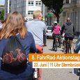 Am 23. Juni ging´s wieder mit's Rad nach Stadt. Der ADFC veranstaltete seinen 8. FahrRad-Aktionstag mit Sternfahrt, großer Fahrrad-Demo über den Magdeburger Ring und Familienfest im Stadtpark. Seid mit dabei, […]
