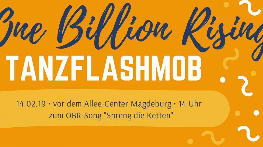 """One Billion Rising ist eine Tanzprotestaktion gegen Gewalt an Frauen* und Mädchen*. Für den Valentinstag 2019 werden weltweit eine Milliarde (=USA-Zahl: """"Billion"""") Frauen zu Streiks und Protestkundgebungen aufgerufen. Song: https://www.youtube.com/watch?v=hUDvLbSFPUM&fbclid=IwAR0EXHIFutaXhakOt-PNwvk0z3i82a3xtFW4CMjVkHTEipUOw3I3FaGESKU […]"""